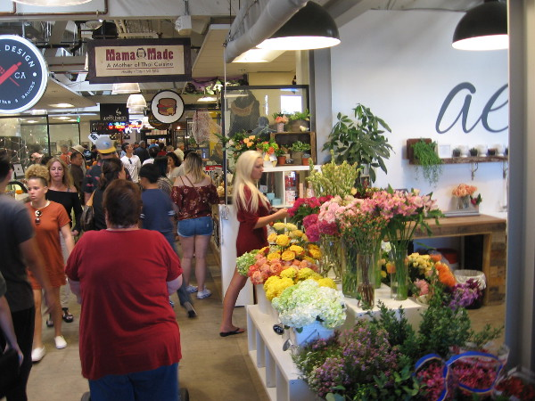 Flowers add color and life to Liberty Public Market.