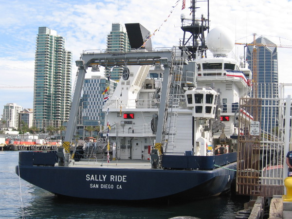 Scripps Institution of Oceanography's new Research Vessel Sally Ride welcomes the public at San Diego's Broadway Pier.