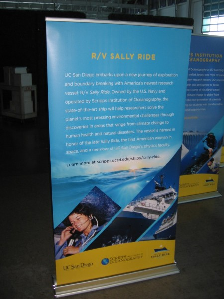 UC San Diego embarks upon a new journey of exploration and boundary breaking with America's newest research vessel RV Sally Ride. Sally Ride was the first American woman in space.