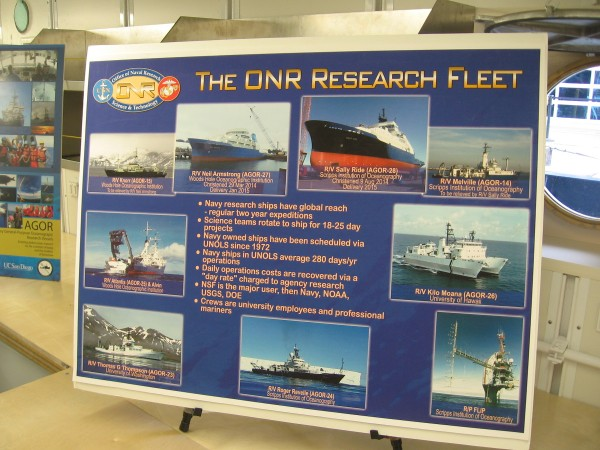 R/V Sally Ride is the newest member of the Office of Naval Research's fleet. These ships are owned by the U.S. Navy, but operated by university employees and professional mariners. Science teams rotate on a regular basis every two or three weeks.