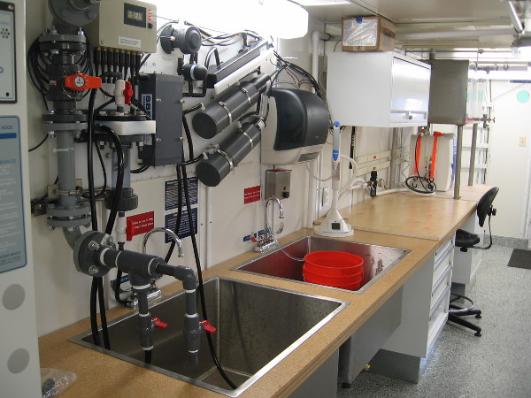 Lab stations on the RV Sally Ride are optimized for the different types of research activities that take place at sea.