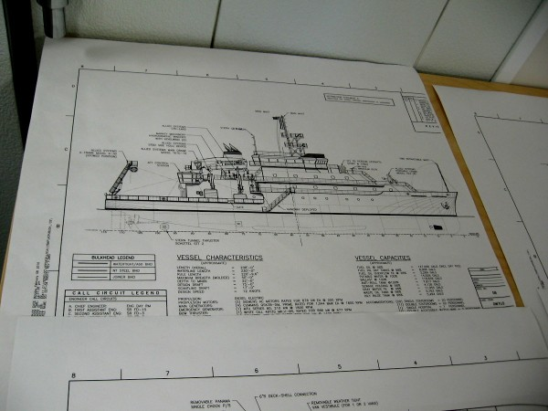 A diagram of RV Sally Ride with detailed information about the ship.