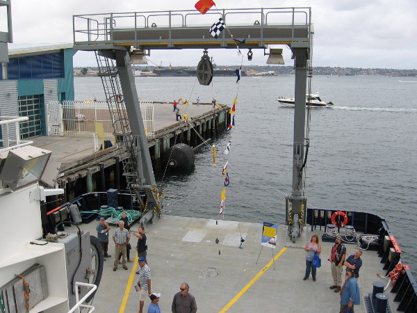 One last look at the aft deck and impressive A-Frame of the amazing new Research Vessel Sally Ride.