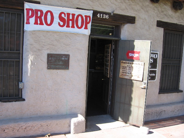 The Pro Shop at Presidio Hill Golf Course can be found inside San Diego's oldest building, La Casa de Carrillo.