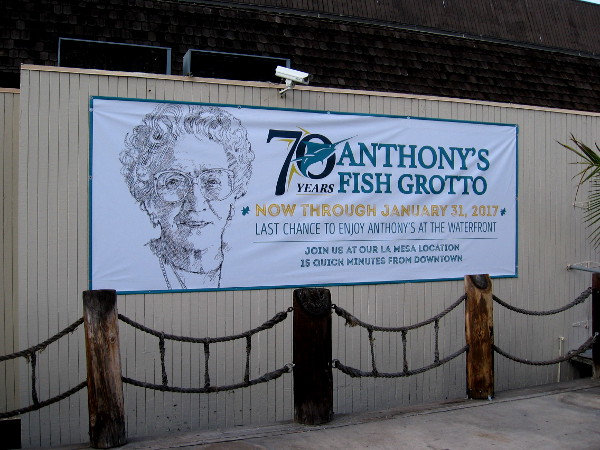 Last chance to enjoy Anthony's at the waterfront. 70 years of great memories and seafood at Anthony's Fish Grotto, which will close on January 31, 2017.