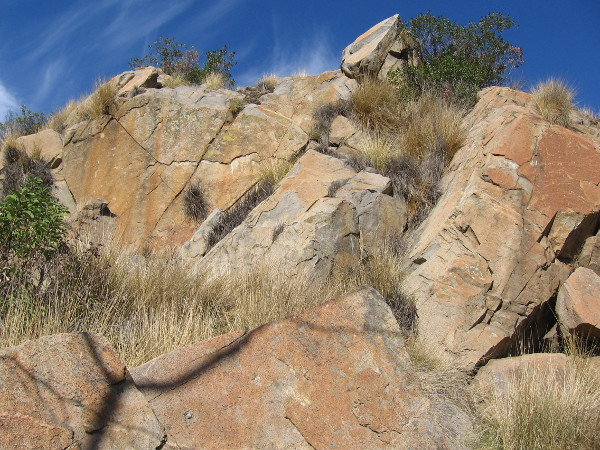 Granitic rocks seen along the trail.