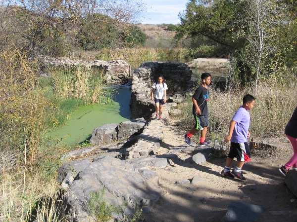 It's possible to walk out onto the old dam, but one must be careful!