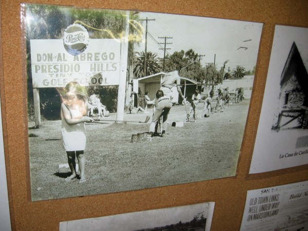 Old photo shows Don and Al Abrego Presidio Hills Tiny Tots Golf School. The school has faded into history.