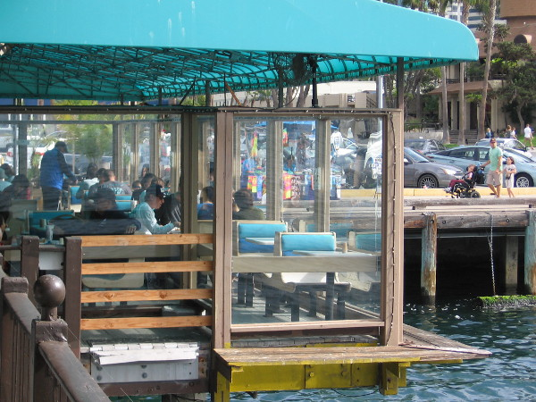 Another photo of the small casual Fishette. I prefer dining outside, but many enjoy the more formal Fish Grotto, which occupies the interior of the building.