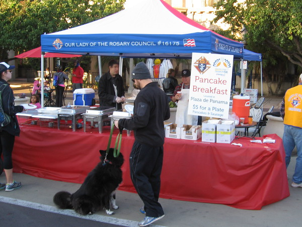 The Knights of Columbus had a pancake breakfast in Balboa Park during the Father Joe's Villages Thanksgiving Day 5K.