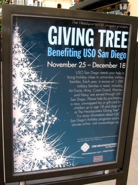 USO San Diego needs your help to bring holiday cheer to active military families. (Please click the image to read more.)