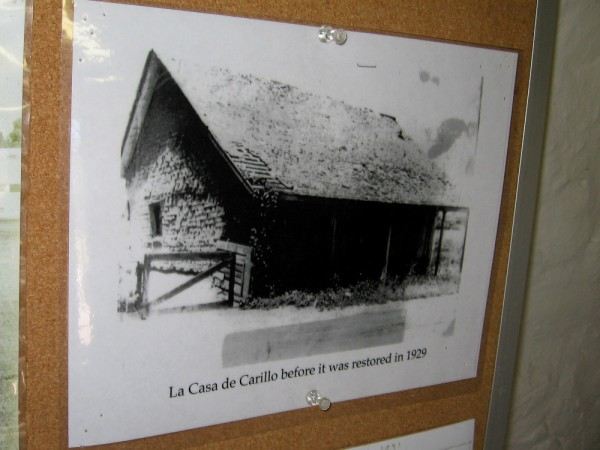 Historical photograph in the Presidio Hills Golf Course Pro Shop. La Casa de Carillo before it was restored in 1929.