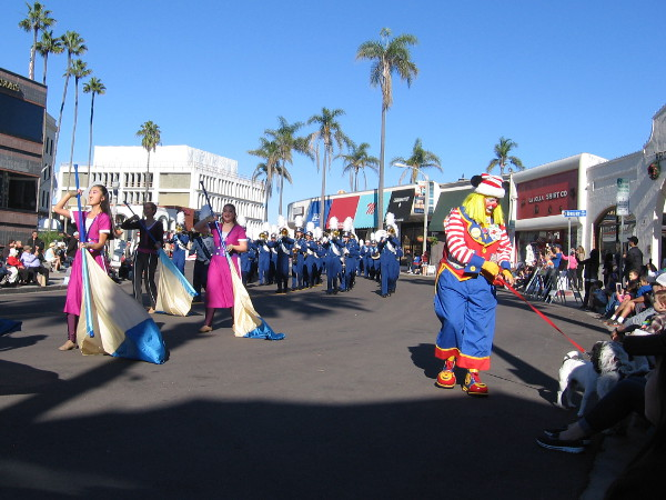 A merry sight along the La Jolla Christmas Parade route!