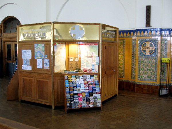 If you ever visit the Santa Fe Depot in downtown San Diego, swing by this information booth to check out the historical exhibit.