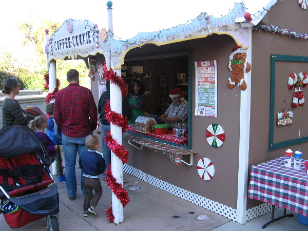 The holiday season at the Spreckels Organ Pavilion includes candy canes, Christmas cookies and gingerbread men.