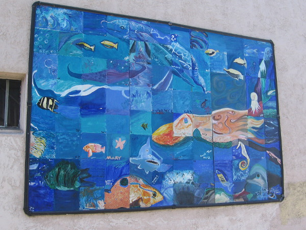 Another of many community murals in Ocean Beach. This one depicts underwater sea life.