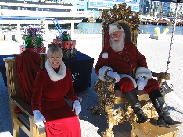 Santa and Mrs. Claus are present again for the toy drive! I saw them here a year or two ago!