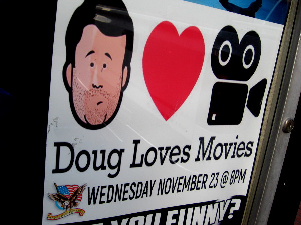 Doug Loves Movies so much it seems he has forgotten to shave. A funny face spotted while walking down a sidewalk.