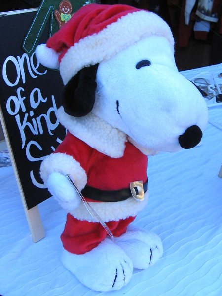 Tried to fool me again! That isn't Father Christmas! It's Snoopy!
