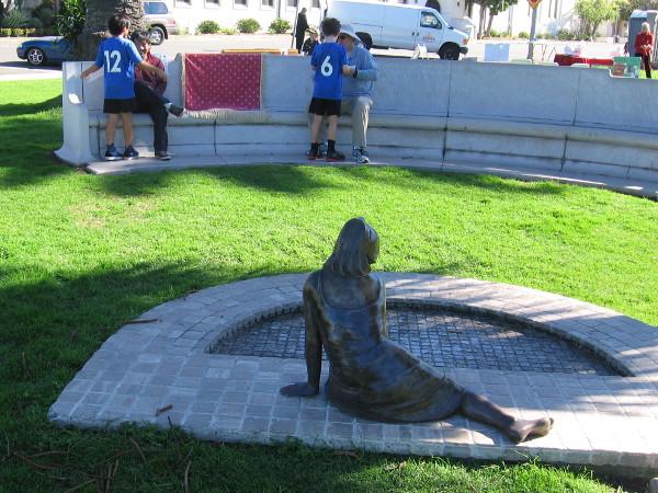 Sculpture Of Girl Remembers Ellen Browning Scripps Cool