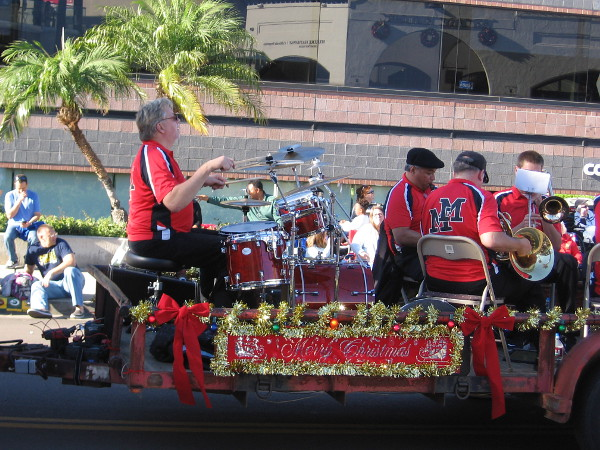 Another cool sight at the annual La Jolla Christmas Parade.