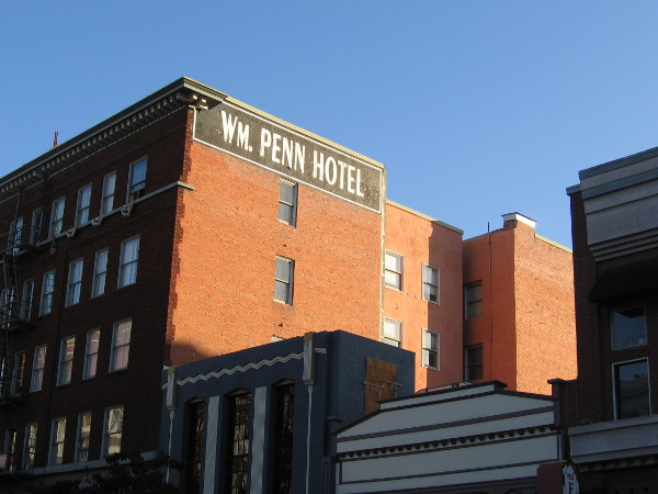 The William Penn Hotel building at Fourth Avenue and F Street opened in 1913 as the elegant Oxford Hotel.