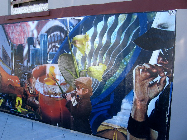 A very cool mural at a street corner in Golden Hill.