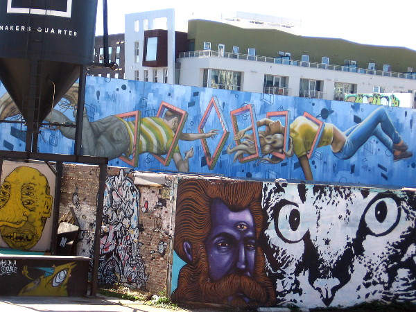 Just tons of cool images. Like a crazy dream in the center of the city! I think that mural on top might be somewhat new.
