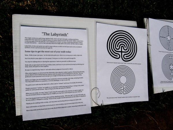 Walking through a curving labyrinth can provide meditation, bringing together body, mind and spirit. Everyone is on their own path through life. (Click image to read.)