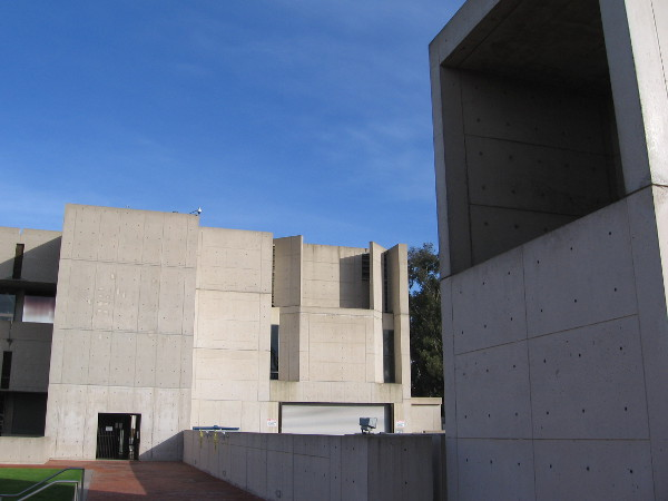 Another photo of the Salk Institute building's fascinating exterior.