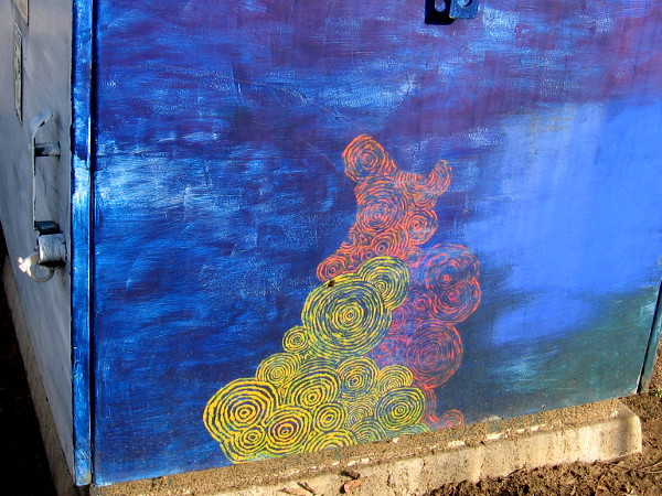 Now for some more street art along North Torrey Pines Road. I took this photo while walking along the sidewalk.