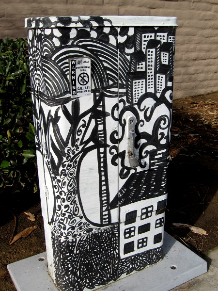 More great street art on a utility box.