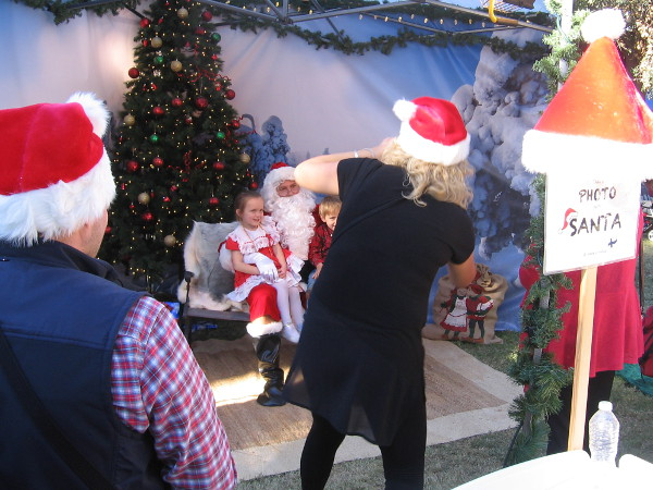 Wait! I found him! There he is! Santa!