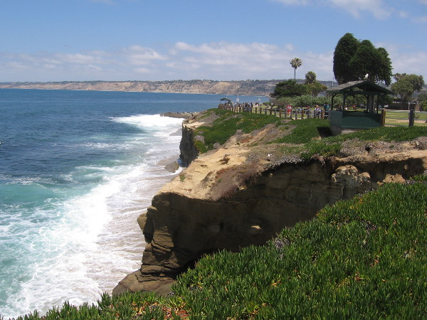 The area around La Jolla Cove is so beautiful, you might just sit in one spot and take in the scenery.