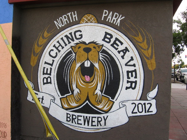 The face of a Belching Beaver isn't something you often see. Unless, perhaps, you drink lots of their beer!