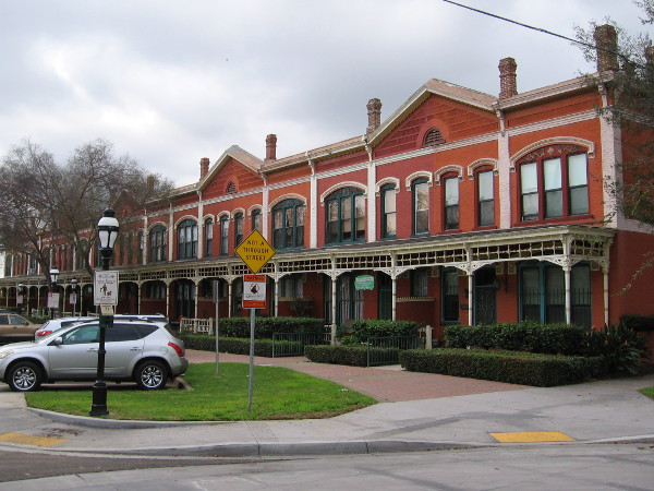 Brick Row at National City's Heritage Square, built by Frank Kimball in 1887.