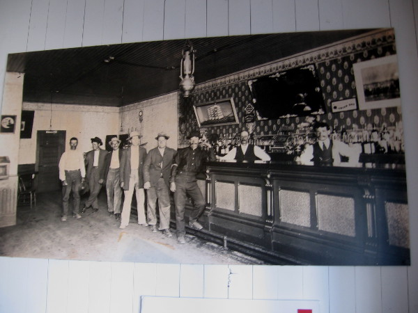 Old photograph shows bar in Colorado House.