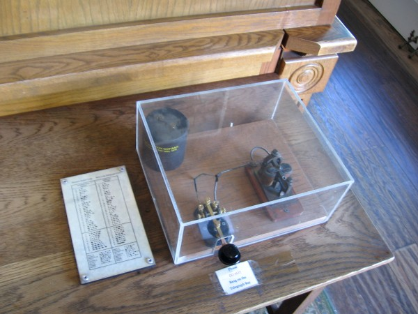 Antique telegraph key once used to send messages and money across the continent.