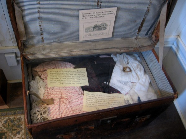 Passengers on board the Overland Mail Company stages were allowed 40 pounds of baggage.
