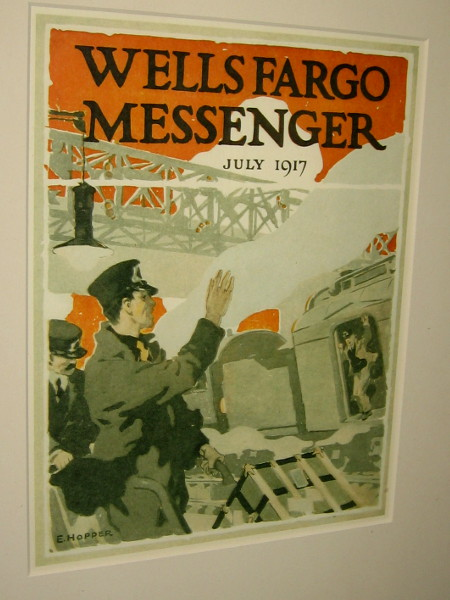 Cover of the Wells Fargo Messenger, dated July 1917.
