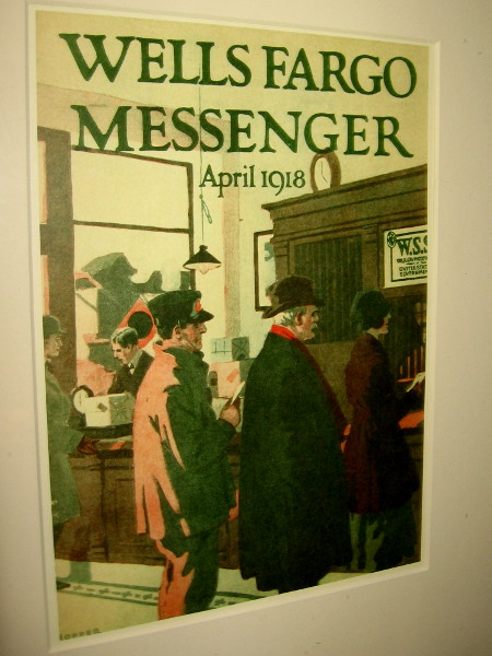 Cover of the Wells Fargo Messenger, dated April 1918.