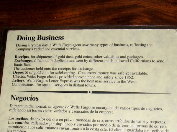 During a typical day, a Wells Fargo agent saw many types of business, reflecting the Company's varied and essential services.