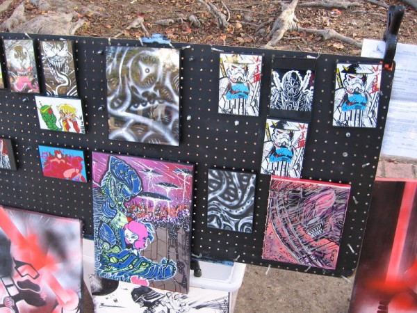 More colorful, fantastic works of art by Vernell Jones III.