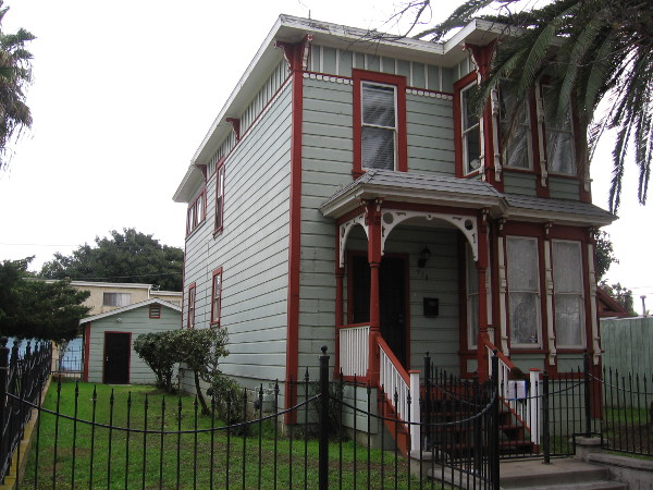 The 1887 Stick-style Rice-Proctor House in National City's Heritage Square.