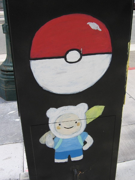 Okay, the character beneath the Poké Ball looks somehow familiar, but I can't figure this one out. If you know who that is, please leave a comment!