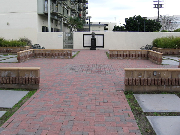 Across Morgan Square Plaza is a monument to a former National City mayor.