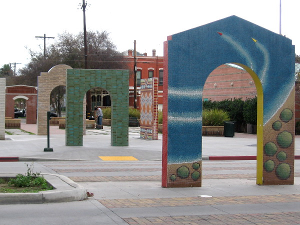 Cool public artwork in National City at Morgan Square Plaza!