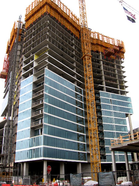 The new Park 12 apartment building is taking shape just east of Petco Park.