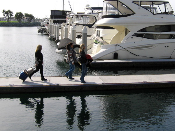 These guys must own a boat docked at the Marriott Marina.