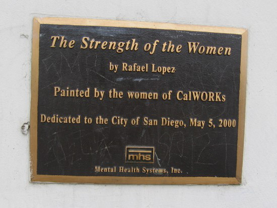 Public art painted in 2000 by the women of CalWORKs.